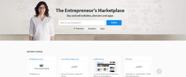selling a website
